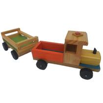 Carros De Madera Artesanales Para Niños Tipo Gandola