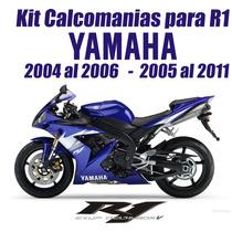 Kit Calcomanias Para Moto Yamaha R1 2004-2005 Y 2006-2011