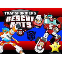 Kit Imprimible Transformers Rescue Bots Caja Etiqueta Invita