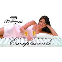 Colchon Simmons Beautyrest Exceptionale Matrimonial 1,4x1,9