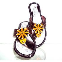 Calzado Sandalia De Cuero Para Dama 100% Garantizadas