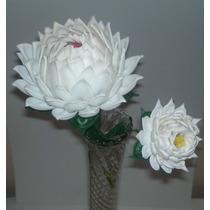 Flores Rosas Crisantemos En Foami Termo Formado Pequeñas