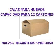 Cajas Para Huevos Con Capacidad Para 12 Cartones.