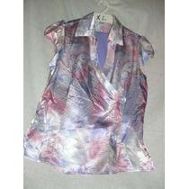 Conjunto Casual De Dama Con Blusa Estampada. Talla Xl