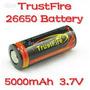 Batería Recargable Trustfire Li-ion 26650 5000 Mah 3.7 V