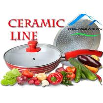 Sartén Ceramica Antiadherente Ceramic Line 3 Piezas + Tapas