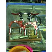 Juego De Frenos U Roja Y Azul De Aluminio Para Bicicletas