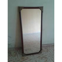 Espejo Decorativo En Color Caoba O Wengue