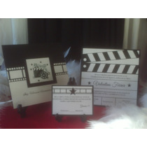 Invitaciones Hollywood U Oscar Claqueta