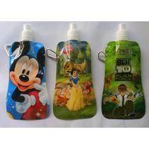 Cooler-botella Exprimible Figuras Disney Y Otras