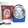 Ventilador Recargable Portatil Con Linterna Full Led 32