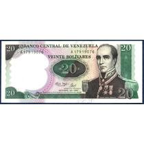 Billete 20 Bolívares Octubre 1987 Serial A8 Conmemorativo