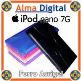 Forro Silicon Negro iPod Nano 7g Protector Goma Suave