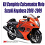 Kit Calcomanias Moto Suzuki Hayabusa 2008-2009
