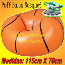 Puff Sillon Inflable Balon Basket 115x70 Cm Bestway + Parcho