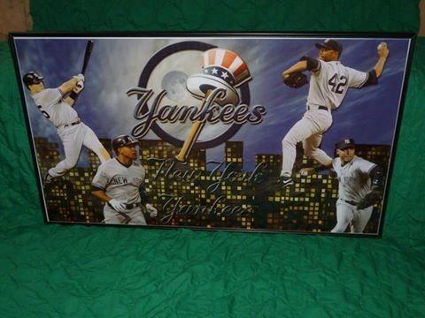 Cuadro enmarcado de colecci n de yankees de nueva york 1 for Enmarcado de cuadros precios