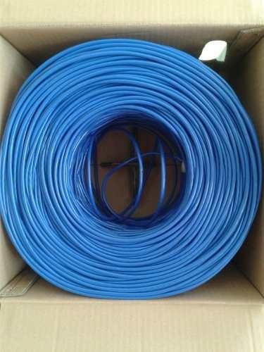 Bobina cable de red utp 5e azul 100 metros internet for Cable para internet precio por metro