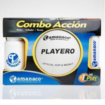 Combo Voleibol Playero Cooler Mas Inflador Tamanaco M Cavopc