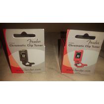 Afinador Chromatic Clip Tuner Fender Negro Y Rojo