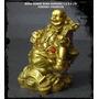Buda Sobre Rana Dorado 7,5 X 6 Cm