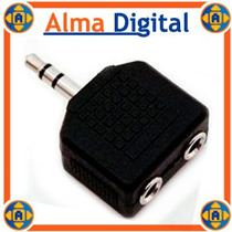 Conector 2 Audifonos 3.5mm Iphone Ipod Touch Nano Clasic Mp4