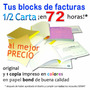Facturas Seniat: 1 Facturero 1/2 Carta (original Y 1 Copia)