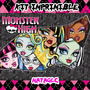 Mega Kit Imprimible Monster High Invitacione Marcos Cotillon