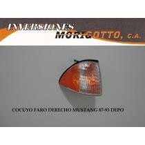Cocuyo Faro Cruce Derecho O Izquierd Ford Mustang 87-93 Depo