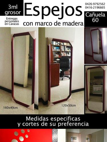 Espejo 30x50cm Con Marco De Madera Bs Tlctq