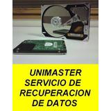 Recuperación De Datos De Discos Duros,servidores, Recuperar