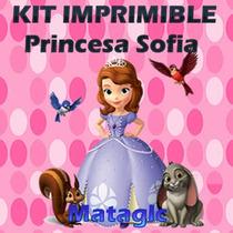 Kit Imprimible Princesa Sofia Tarjetas Marcos Golosinas