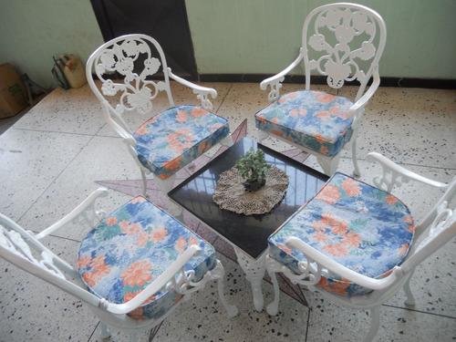 Muebles de jardin de hierro fundido recibos comedores for Muebles de jardin precios