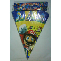 Cono Mario Bross, Enrredados, Pebbles, Y + Para Cotillones.