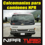 Calcomanias Para Camion Chevrolet Npr Turbo 6 Speed