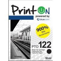Cartucho Printon Para Hp 122xl Negro