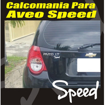 Calcomania Speed Para Chevrolet Aveo