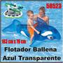 Flotador Inflable Ballena Transparente Niños Piscina 58523