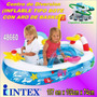 Centro Diversion Inflable Tipo Bote Con Aro De Basket 48660