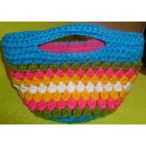 Bolso Cartera Tejida Al Crochet Para Niña Nav13