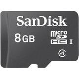 Memoria Micro Sd Hc I Sandisk 8gb Con Protector Plástico