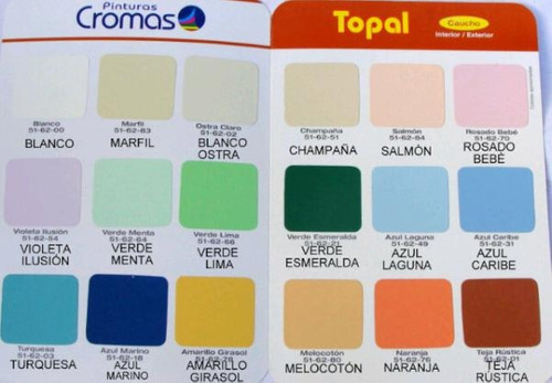 Gran oferta galon pintura cromas caucho mate clase b for Catalogo colores pintura pared