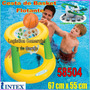 Cesta Flotante De Basket Inflable + Pelota Playa 58504 Intex