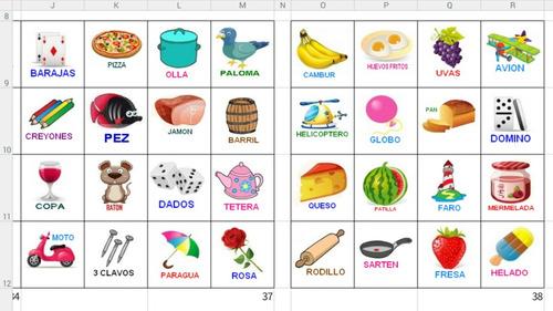 Lotería Para Imprimir 50 Cartones Y 84 Fichas - BsF 250000 en ...