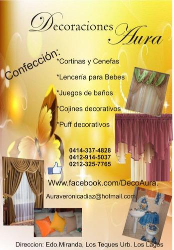 Cortinas cenefas cojines tendidos y mas para tu hogar for Decoracion hogar venezuela