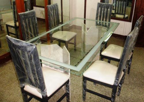 Juego de comedor de vidrio con base de marmol bs for Juego de comedor de vidrio precios