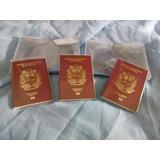 Protectores Plasticos Para Pasaportes X 3  Unidades