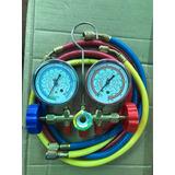 Juego De Manometro Para Refrigeracion Con Visorr22 R134 R407
