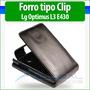 Lg Optimus L3 2 Ii E430 E425 Forro Cuero Estuche Funda Cover