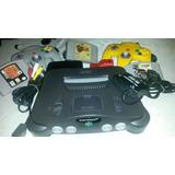 Nintendo 64 2 Controles 3 Cassets Vibrador&memoria