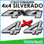 Calcomania 4x4 Silverado Color Original Plateado Marca 3m